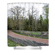 Old Time Gravel Road Shower Curtain