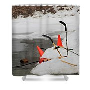Old Time Hockey 1 Shower Curtain