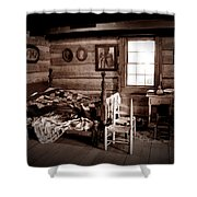 Old-time Living Shower Curtain