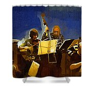 Old Time Music Shower Curtain