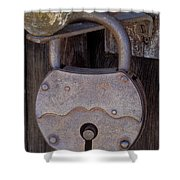 Old Time Padlock Shower Curtain