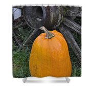 Old Time Pumpkin Festival Shower Curtain