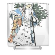 Old Time Santa With Violin2 Shower Curtain