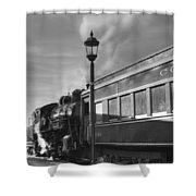 Old Time Steam Shower Curtain