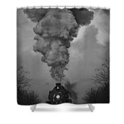 Old Time Steam Locomotive Shower Curtain