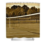 Old Time Tennis Shower Curtain