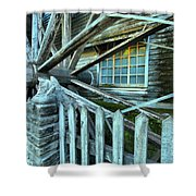 Old Time Wheels Shower Curtain