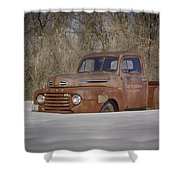 Old Timer In Color Shower Curtain