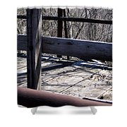 Old Timey Foot Bridge Shower Curtain
