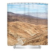 Old Toll Road Landscape In Death Valley Shower Curtain