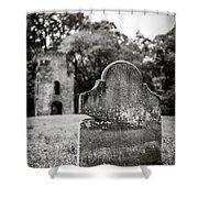 Old Tombstone  Shower Curtain
