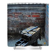 Old Tool Box Lonaconing Silk Mill Shower Curtain