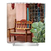 Old Town Albuquerque Shop Window Shower Curtain