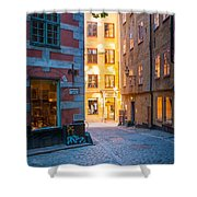 Old Town Alley Shower Curtain