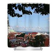 Old Town And Harbor - Tallinn Shower Curtain