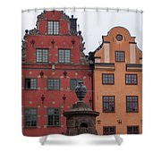 Old Town Architecture Shower Curtain