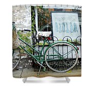 Old Town Bike Stop Shower Curtain