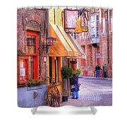 Old Town Bruges Belgium Shower Curtain