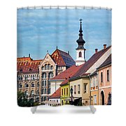 Old Town Buildings In Budapest Shower Curtain