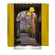 Old Town Courtyard In Victoria British Columbia Shower Curtain by Ben and Raisa Gertsberg