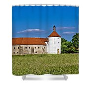 Old Town Fortress In Durdevac Croatia Shower Curtain