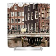 Old Town In Amsterdam Shower Curtain