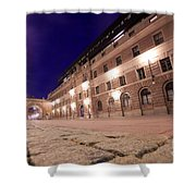Old Town In Stockholm At Night Shower Curtain