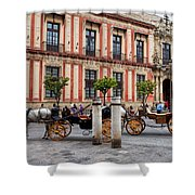 Old Town Of Seville In Spain Shower Curtain