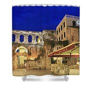 Old Town Of Split At Dusk Croatia Shower Curtain