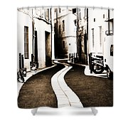 Old Town Streams  Shower Curtain