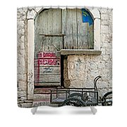 old town street in Kotor Montenegro Shower Curtain
