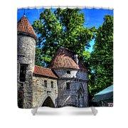 Old Town - Tallin Estonia Shower Curtain