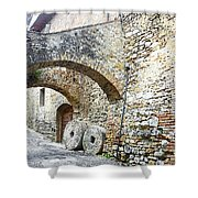 Old Towns Of Tuscany San Gimignano Italy Shower Curtain