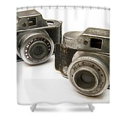 Old Toy Cameras Shower Curtain