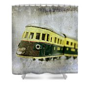 Old Toy-train Shower Curtain