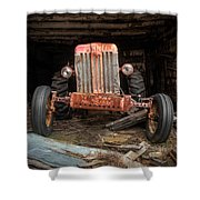Old Tractor Face Shower Curtain by Gary Heller