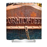 Old Tractor Grille Shower Curtain
