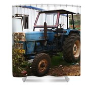 Old Tractor I Shower Curtain