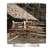 Old Vintage Antique Tractor In Appalachia Shower Curtain