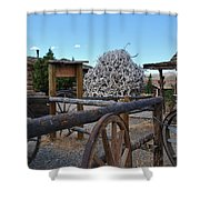 Old Trail Town -  Wyoming Shower Curtain