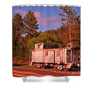 Old Train Caboose Shower Curtain