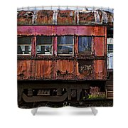 Old Train Car Shower Curtain by Garry Gay