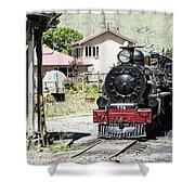 Old Train Engine Shower Curtain
