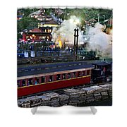 Old Train In The Village - Paranapiacaba Shower Curtain
