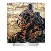 Old Train Still In Light Shower Curtain