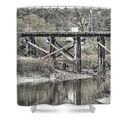 Old Train Trestle Shower Curtain