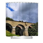 Old Train Viaduct In Poland Shower Curtain
