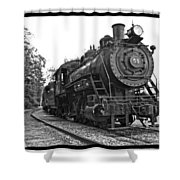 Old Trains Shower Curtain
