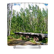 Old Tramway In Canyon City  Miles Canyon Trail Near Whitehorse-yk Shower Curtain