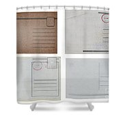 Old Travel Postcards Shower Curtain